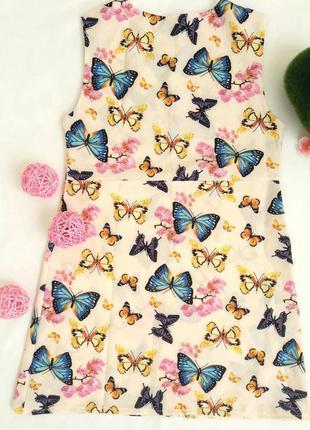 Легкий детский летний сарафан с бабочками