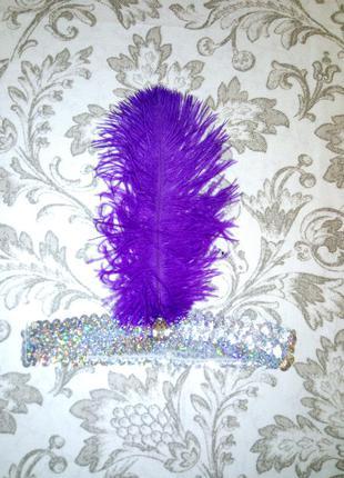 Повязка-перо - головной убор перо в стиле 20-30-хх годов