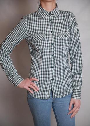 Рубашка женская в клеточку