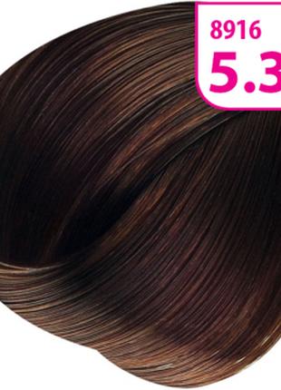 Стойкая cc крем-краска для волос krasa тон светлый каштан шоколадный.8916