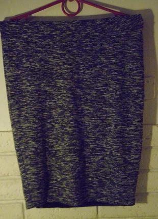 Спортивная меланжевая юбка