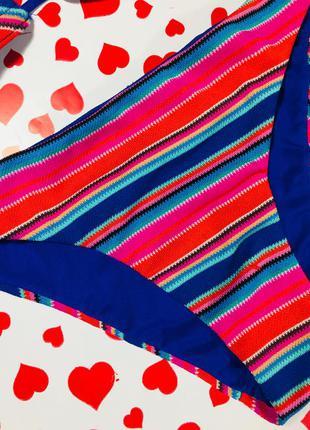 Розпродаж!!! яскравий безшовний купальник в полосочку! розмір s/m4 фото