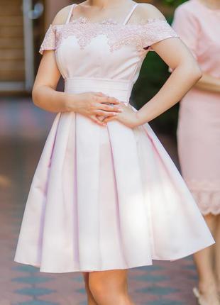 Нарядное коктейльное платье (выпускное платье) ручная работа
