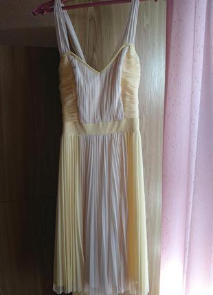 Платье, сарафан желто-бежевое next
