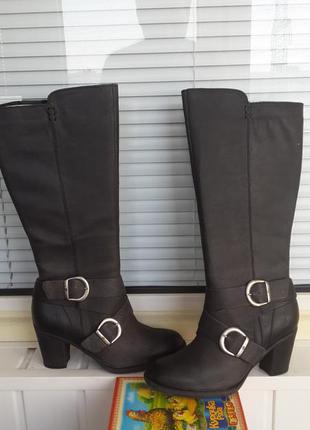 Born оригинал новые кожаные сапоги  размер 39 стелька 25,5 см.