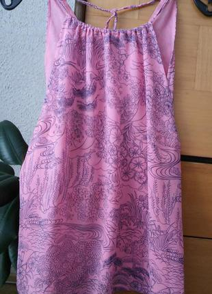 Розовый топ из натурального шелка