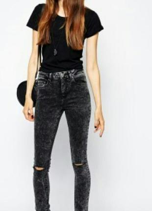 Супер кислотные джинсы,слим фит джинсы варенки с дырками,серые кислотные джинсы