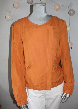 Льняной пиджак на замке promod