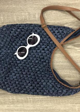 Супер актуальная соломенная сумка торба