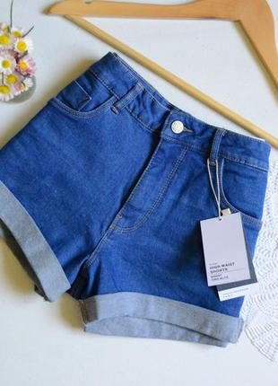 Zara шорти висока посадка джинсові