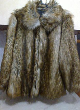 Полушубок шуба лиса лисица эко мех искусственный как живая!  на 56-58 разм летняя цена