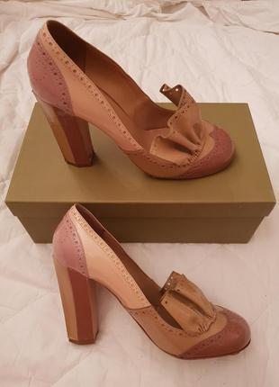 Туфли из лаковой кожи miu miu