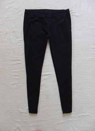 Зауженные черные брюки штаны скинни zebra, l размер.