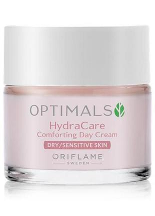 Увлажняющий дневной крем для сухой/чувствительной кожи optimals hydra care