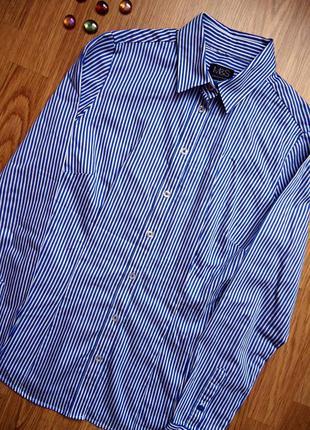 Рубашка, на пуговицах, m&s, классика, 100%хлопок