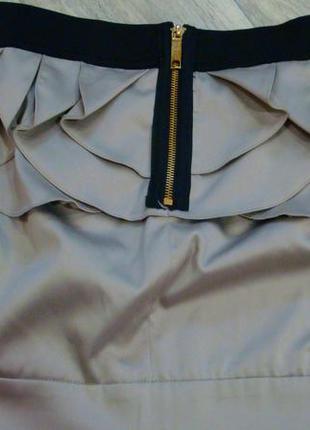Распродажа!!! юбка с кружевом и модным замком сзади. размер 8- 10