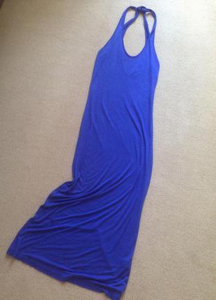 Новое длинное в пол платье вискоза 100%,р 6-8