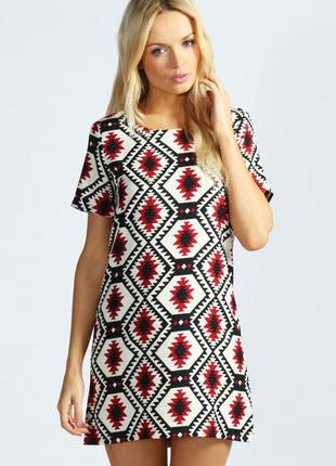 Платье орнамент, платье- туника