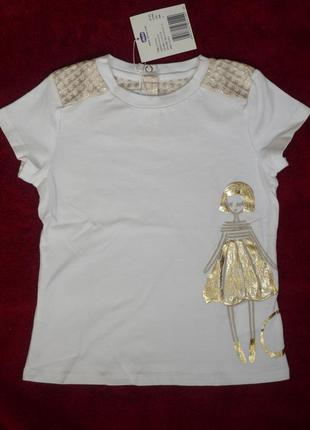 Шикарная футболка chicco, р.98 - 3 года для девочки. новая