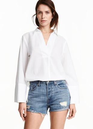 Блуза рубашка хлопок h&m