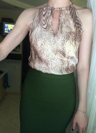 Розкішна блуза топ шовк-віскоза