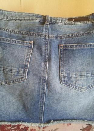 Джинсовая юбка pieces xs