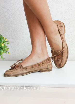 Кожаные балетки лоферы туфли ☝большая распродажа☝