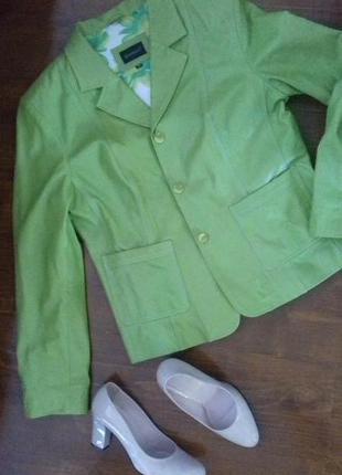 Яркая стильная кожаная курточка, куртка, жакет