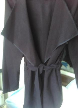 Кашемировое пальто-халат, пальто на запах