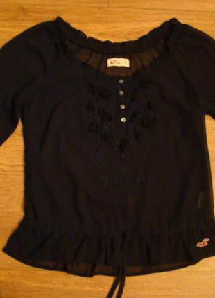 Темно-синяя блуза от hollister