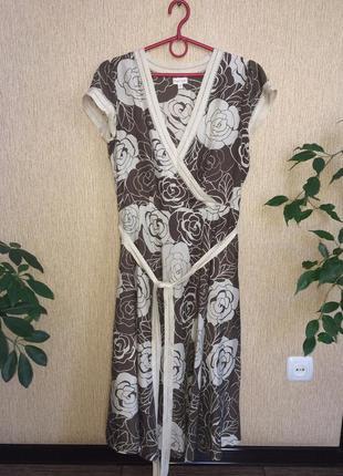 Шикарное платье на лето phase eight, 100% шёлк