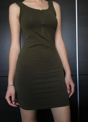 Платье хаки new look