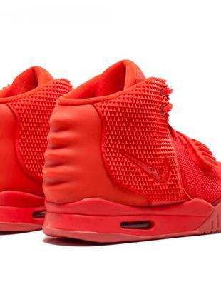 Кроссовки nike air yeezy 2 red october (как красные кроссовки adidas)