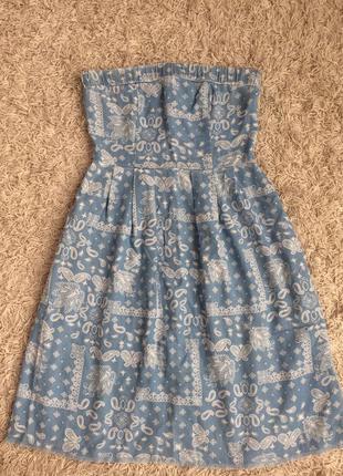Платье сарафан zara denim
