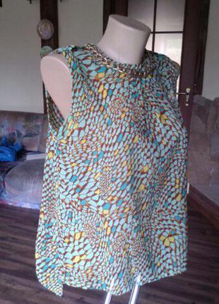 Блуза известного бренда/ летняя блузка/ ассиметричная блузка/модная майка