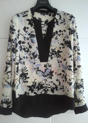Блуза warehouse с нежным цветочным принтом из комбинированной ткани