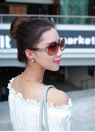 """Стильные легкие элегантные очки в оправе цвета """"рубиновое вино"""" uv400-100% защита"""