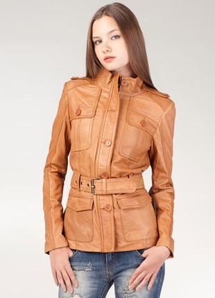 Курточка натуральная кожа премиум класс stradivarius !