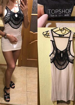 Майка короткое платье платье мини