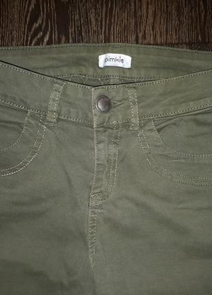 Брюки джинсы хаки милитари
