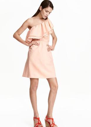 Платье на одно плечо, h&m
