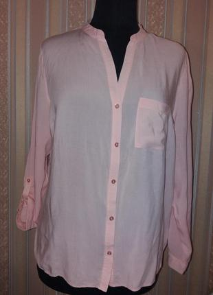 Легкая блуза, рубашка розово-персикового цвета, atmosphere