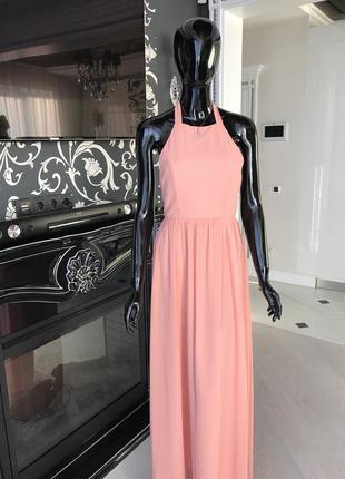 Платье пол персикового цвета