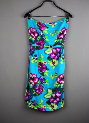 Красивое короткое платье с цветами от h&m