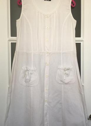 🎉 супер льняное белое платье италия