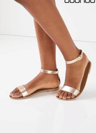 Кожаные сандалии boohoo eleanor