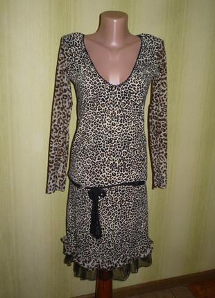 Красивое леопардовое платье