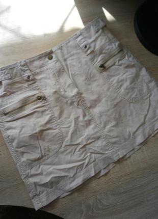 Прикольная бежевая юбка marks and spenser