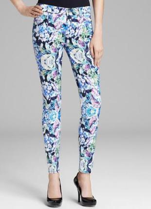 7 for all mankind классные джинсы,цветочный принт 46