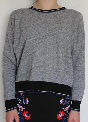 Zara кофта свитшот с резинками